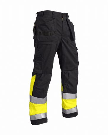 Blaklader 1508 High Visibility Trousers X1500 (Black/Yellow)